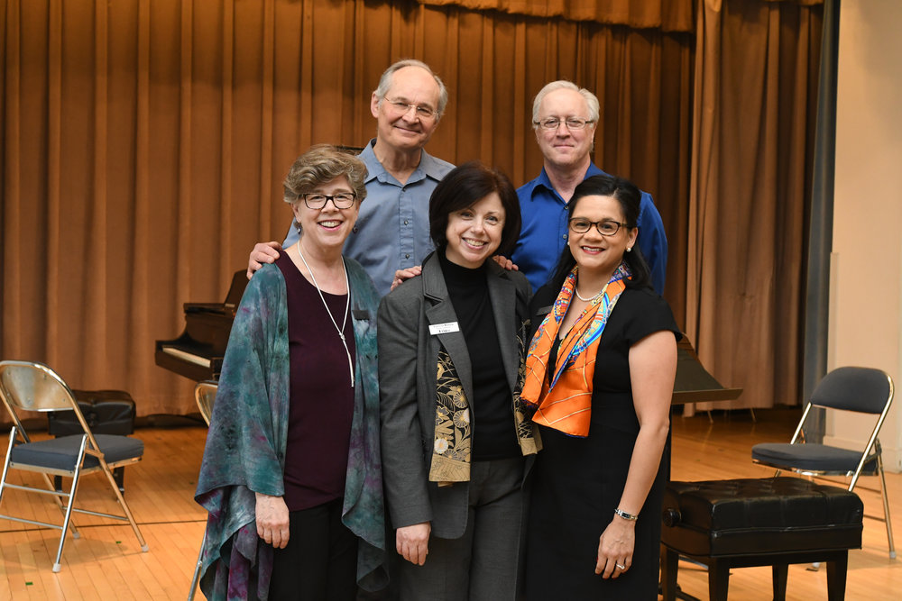 Back row: Jan Krzywicki, Edward Schultz    Front row L to R: Melinda Whiting, Patricia Manley, Lourdes Starr-Demers   Network Board Members