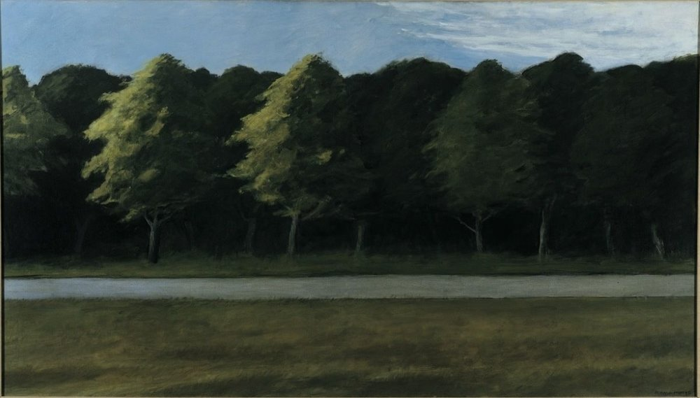 Road and Trees  by Edward Hopper
