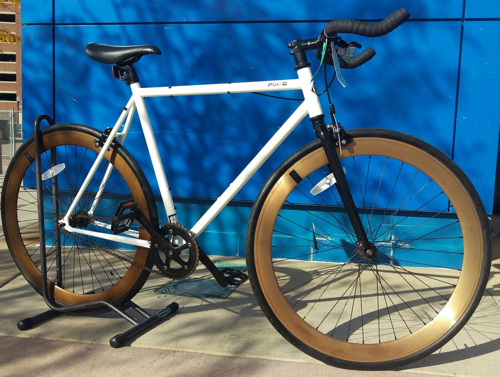 2016 Origin 8 Fix8 54 cm- High Tensile steel frame with flip-flop rear hub - Ride fixed or as a single speed. Super deep 50mm rims make this bike a real looker. $345 (Reg. $395).