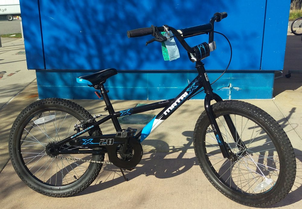 "2016 Sun Matrix 20"" - $140 (Reg. $190) - High tensile steel frame with low stand over for small riders. Single-speed with coaster brake and a handbrake up front for a true learning experience. A bike that can be passed down the family tree."