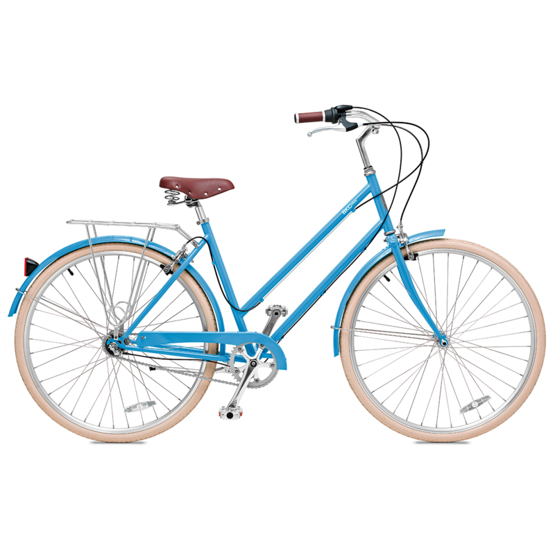 Brooklyn Bicycle Co. Willow 3 3-speed internal hub MD Columbia Blue, LG Red, LG Seasglass $600