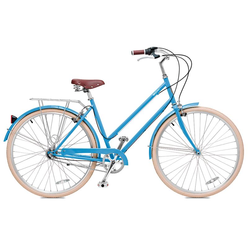 Brooklyn Bicycle Co. Willow 3 3-speed internal hub MD Columbia Blue, LG Red, LG Seasglass $600