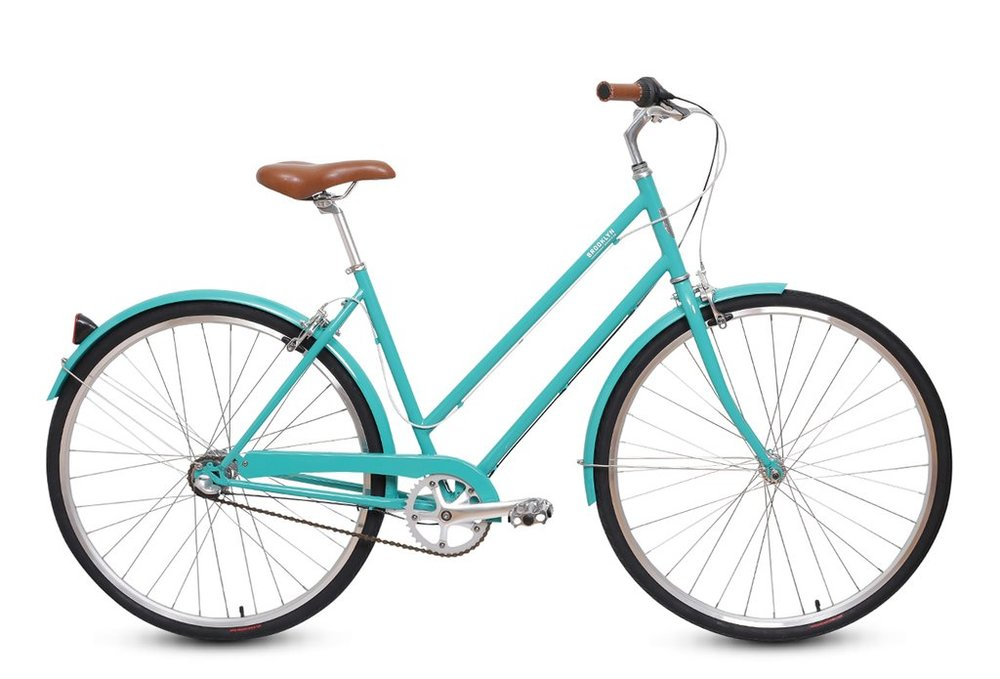 Brooklyn Bicycle Co. Franklin 3-speed MD Matte Coral or Glass BLK, LG Seaglass $450