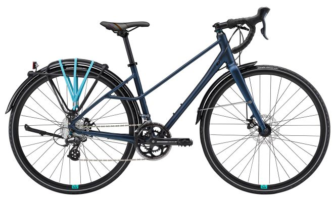 Giant BeLiv City 2 16-speed Matte Blue/Teal M/L $815