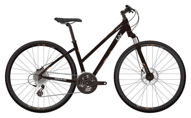Giant Liv Rove 3 Disc Step-Through 24-speed Metallic Blk S/M/L $490