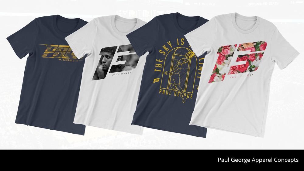 Apparel concepts for Paul George's foundation through SoapBox