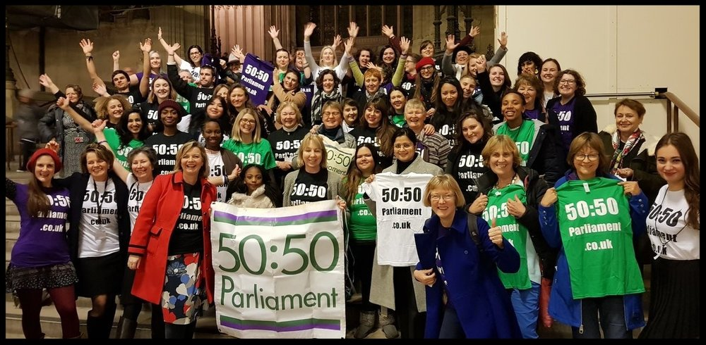5050 Parliament is a cross-party campaign group asking for gender equality in the Houses of Parliament.