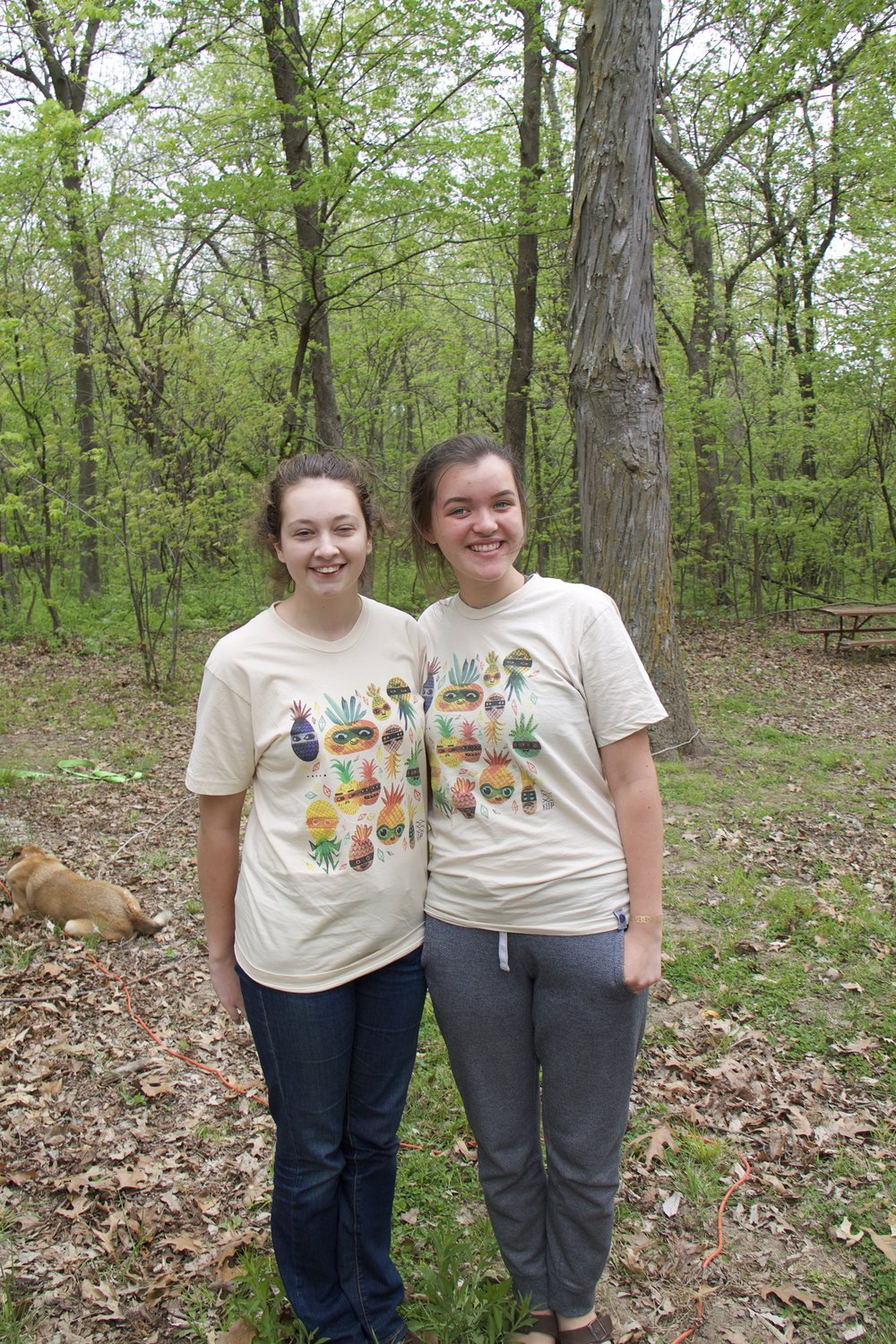 Daisy and Amy were so happy to find matching t-shirts. :-)