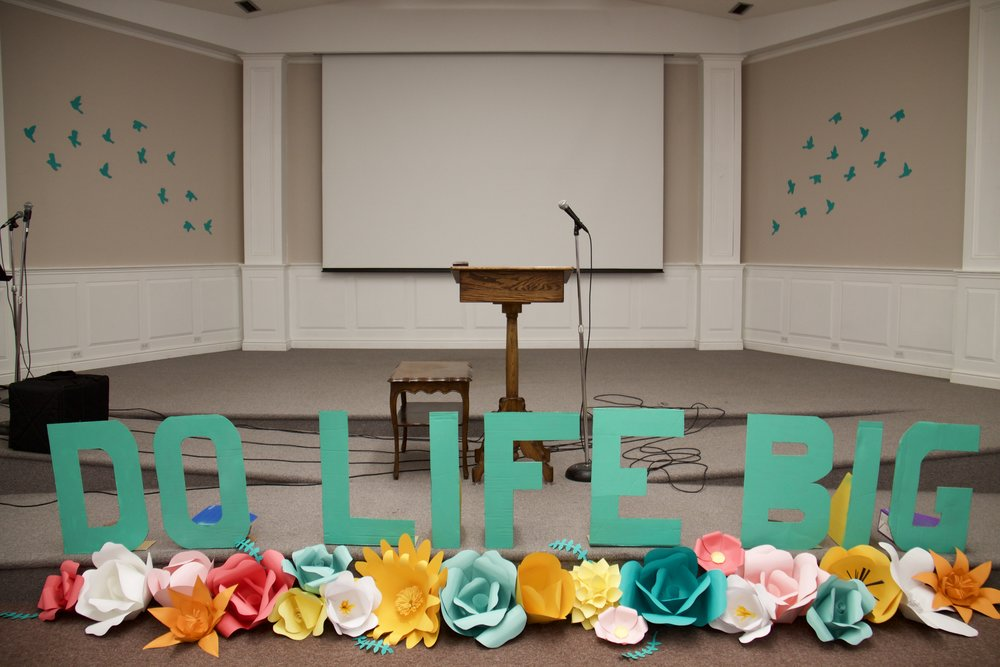 """Our weekend's theme came from the Jamie Grace song, """"Do Life Big."""""""