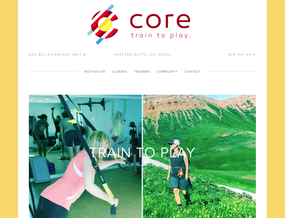 gym web design core crested butte