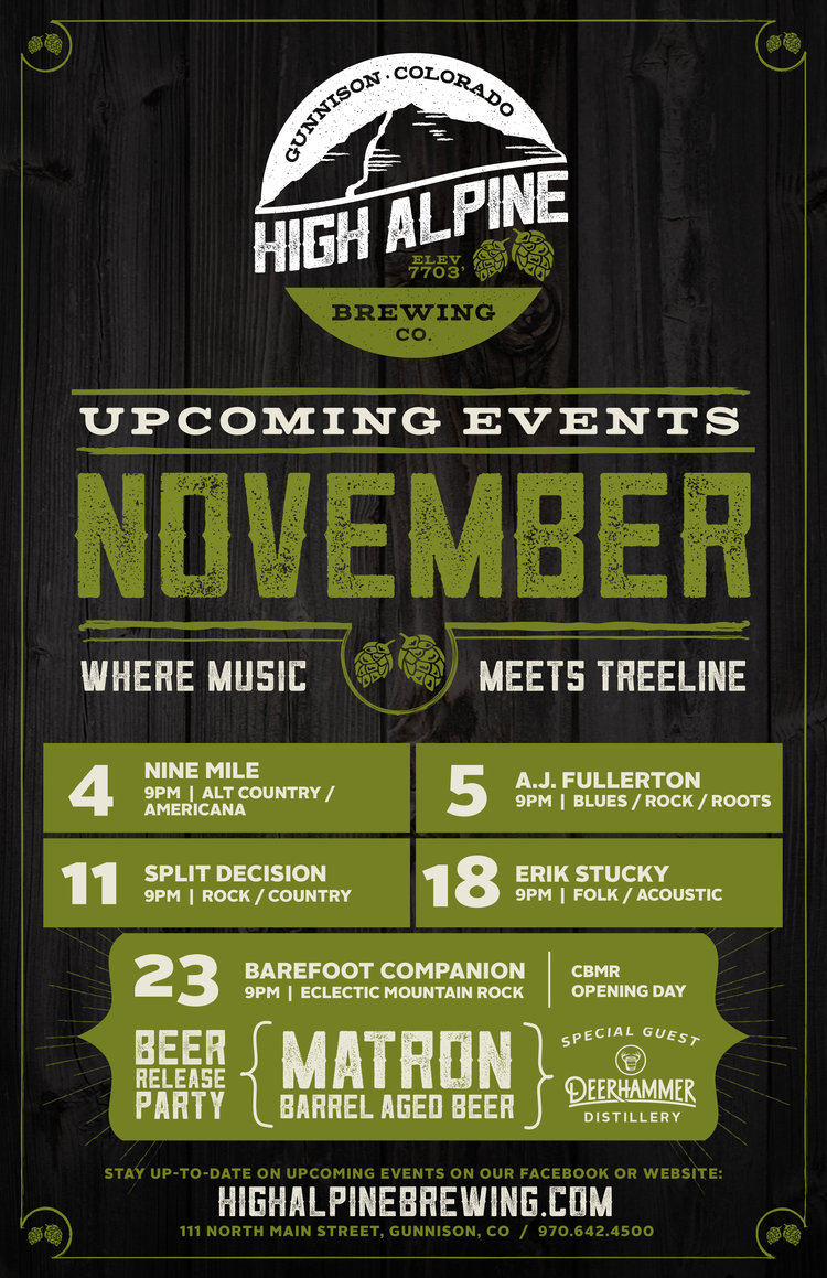 brewery event poster design colorado
