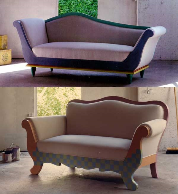 Sofa and chaise designs by Carolyn Robbins