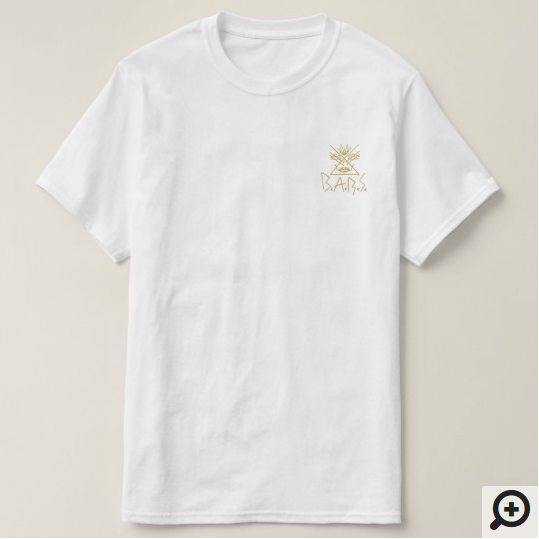 Gold Patch Tee - $18