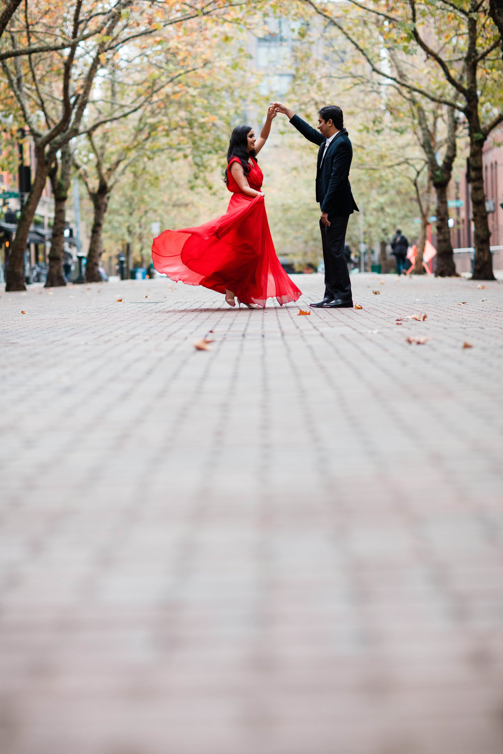 pioneer Square Engagement photos by adina preston weddings. Affordable Seattle wedding Photographer