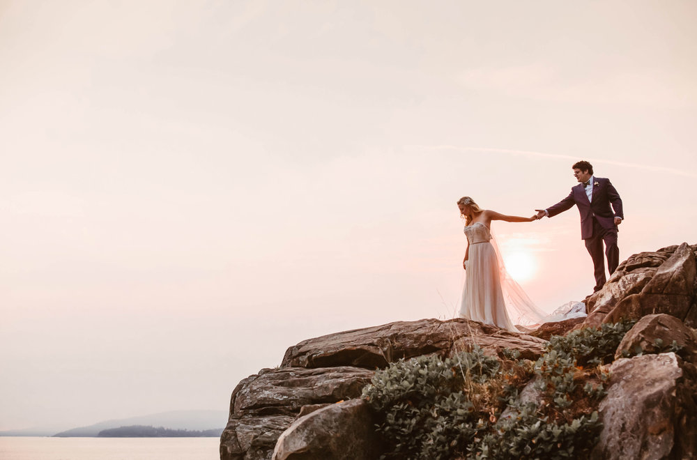 Sunset Coastal Bellingham, WA Wedding // Courtney + Matt