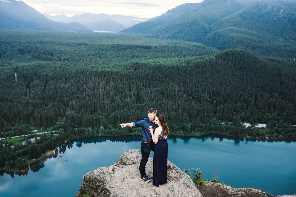 Rattlesnake Ridge Engagement by Adina Preston Weddings