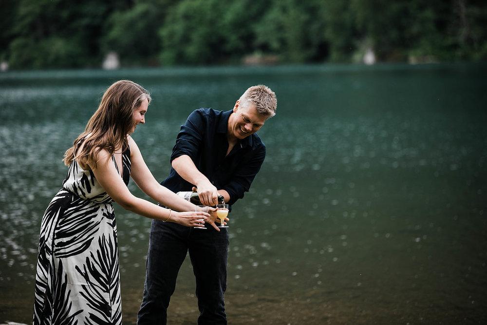 Rattlesnake Lake Engagement by Seattle Wedding Photographer Adina Preston