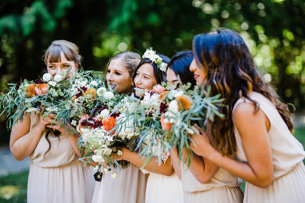carkeek park bridesmaids wedding photos by seattle wedding photographer adina preston