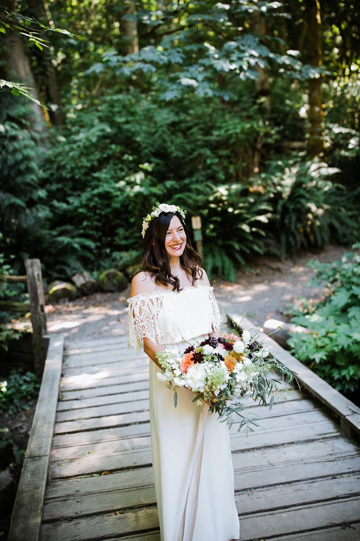 bride photos at carkeek park wedding photos by seattle wedding photographer adina preston