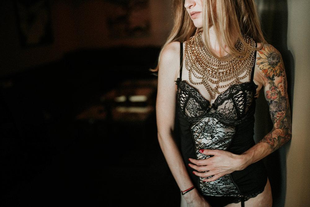 Girl boudoir session in Seattle with Adina Preston Weddings