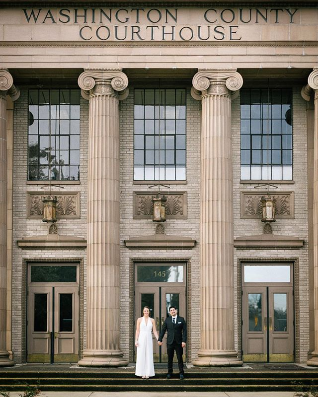 Two of my favorite humans officially tied the knot! #washingtoncountycourthouse #pdxweddings #pdxweddingphotographer