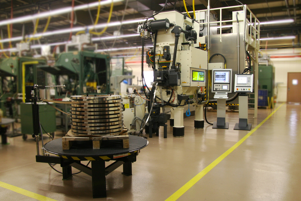 In-die laser welding line.