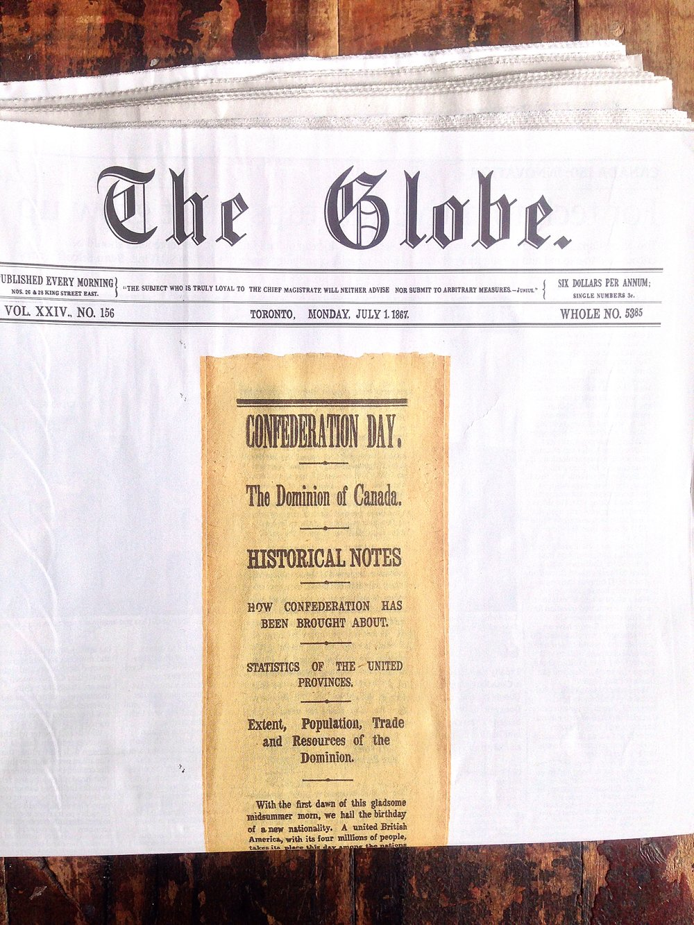 The Globe and Mail Canada 150 edition