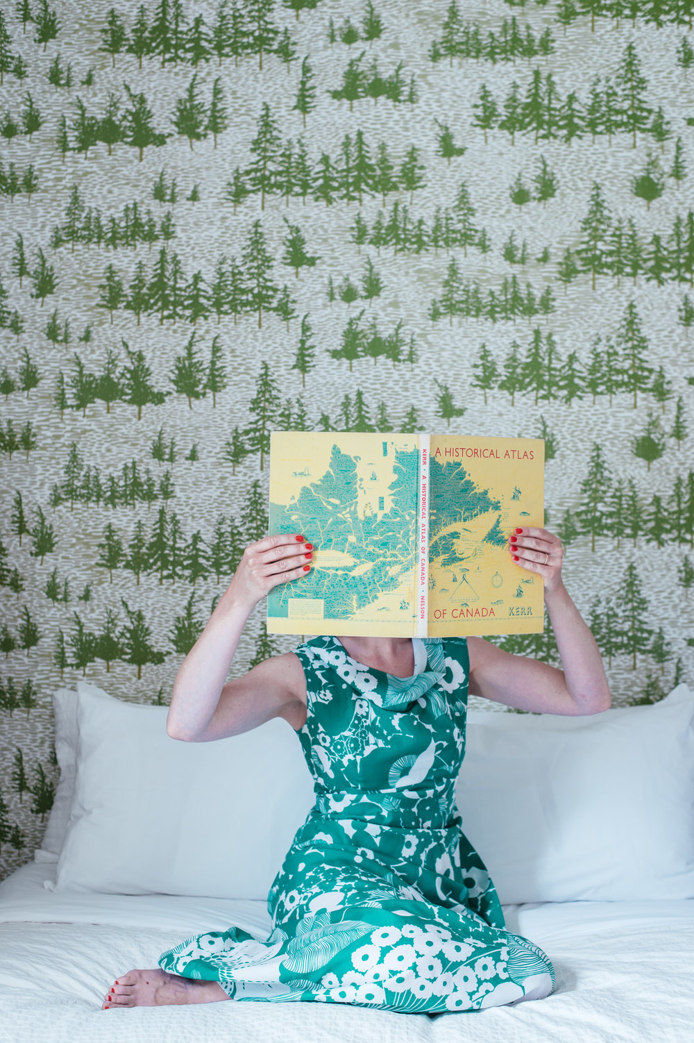 Kate Golding Chuckery Hill wallpaper // Modern wallcoverings and interior decor.