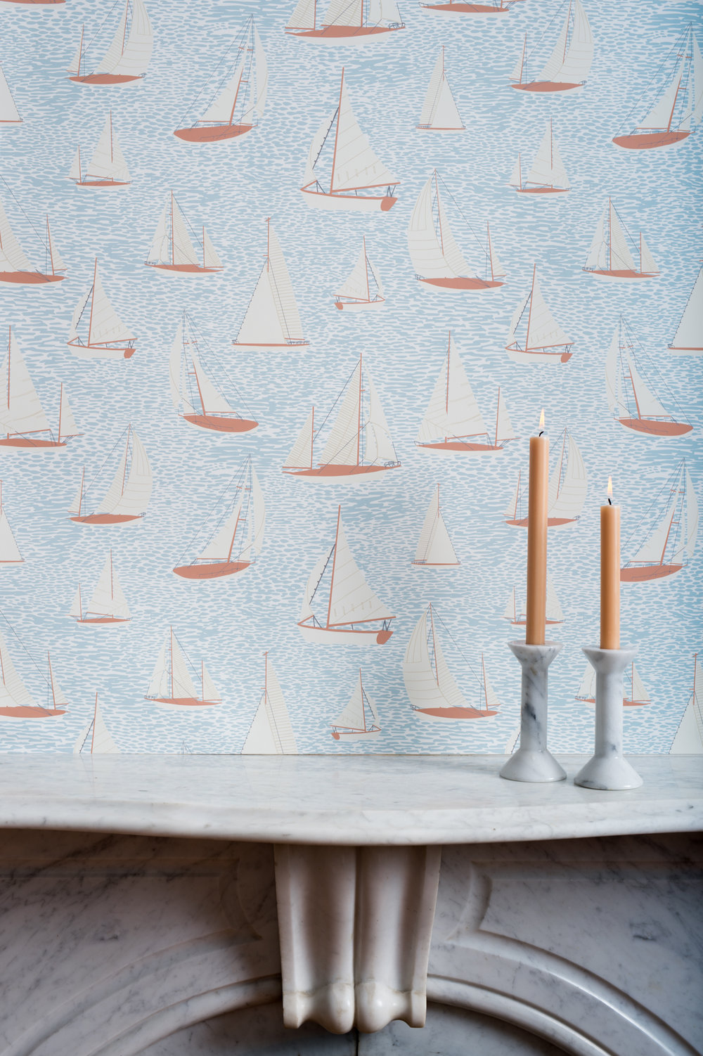 Kate Golding Hallowell Cove wallpaper // Modern wallcoverings and interior decor.