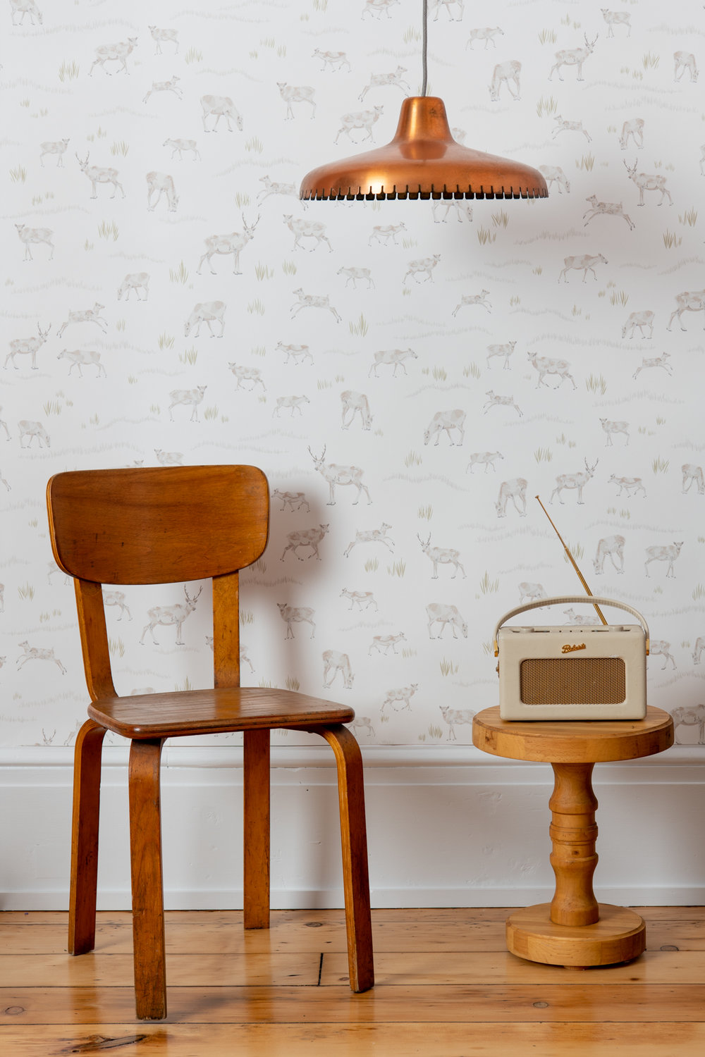 Kate Golding Caribou wallpaper // Modern wallcoverings and interior decor.