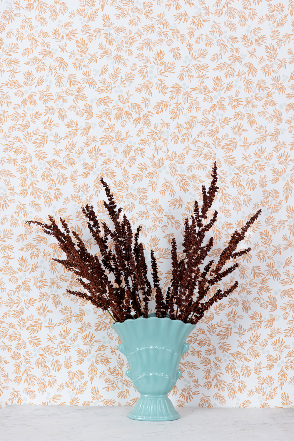 Kate Golding Juniper (Winter) wallpaper // Modern wallcoverings and interior decor.