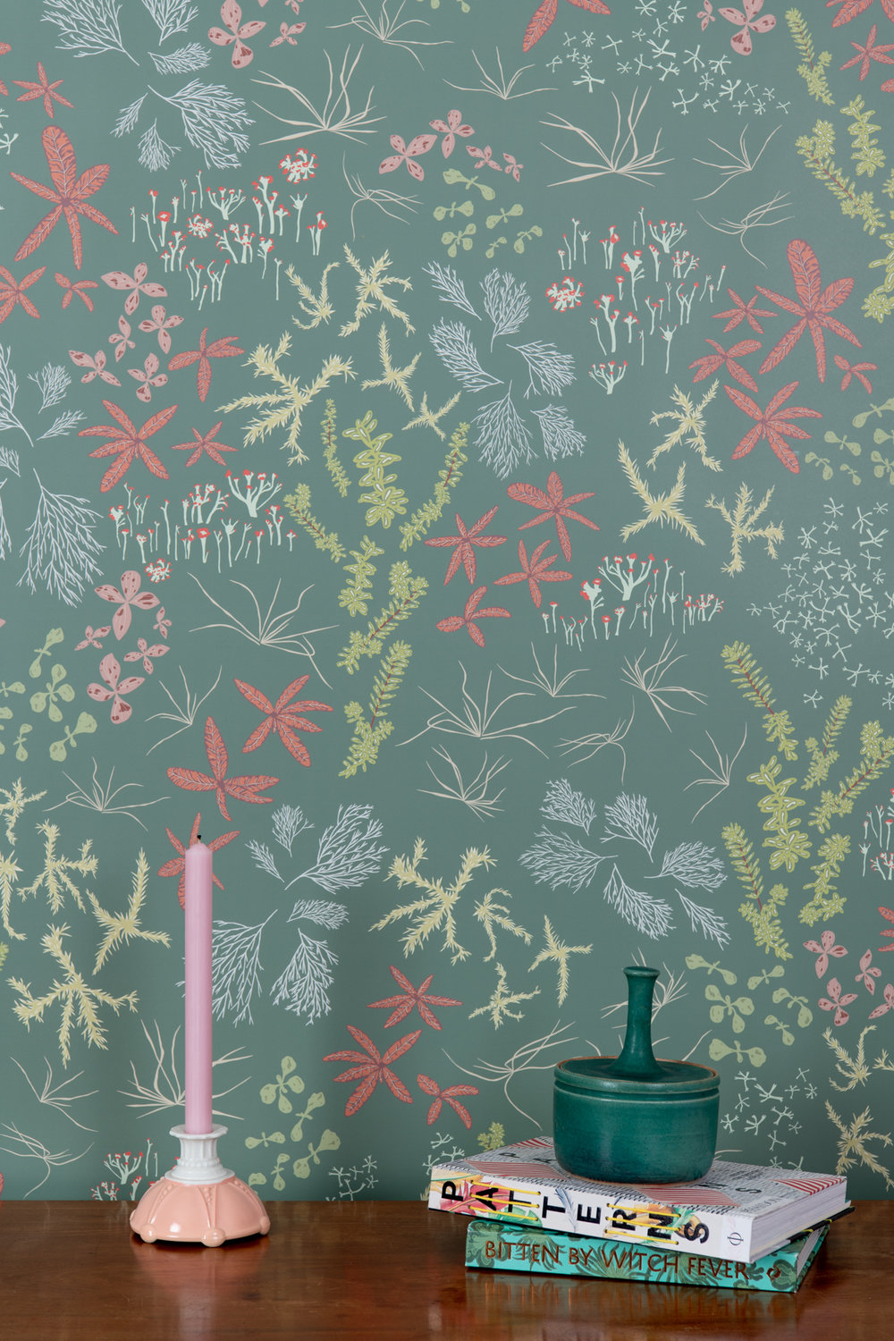 Kate Golding Bog (Rosemary) wallpaper // Modern wallcoverings and interior decor.