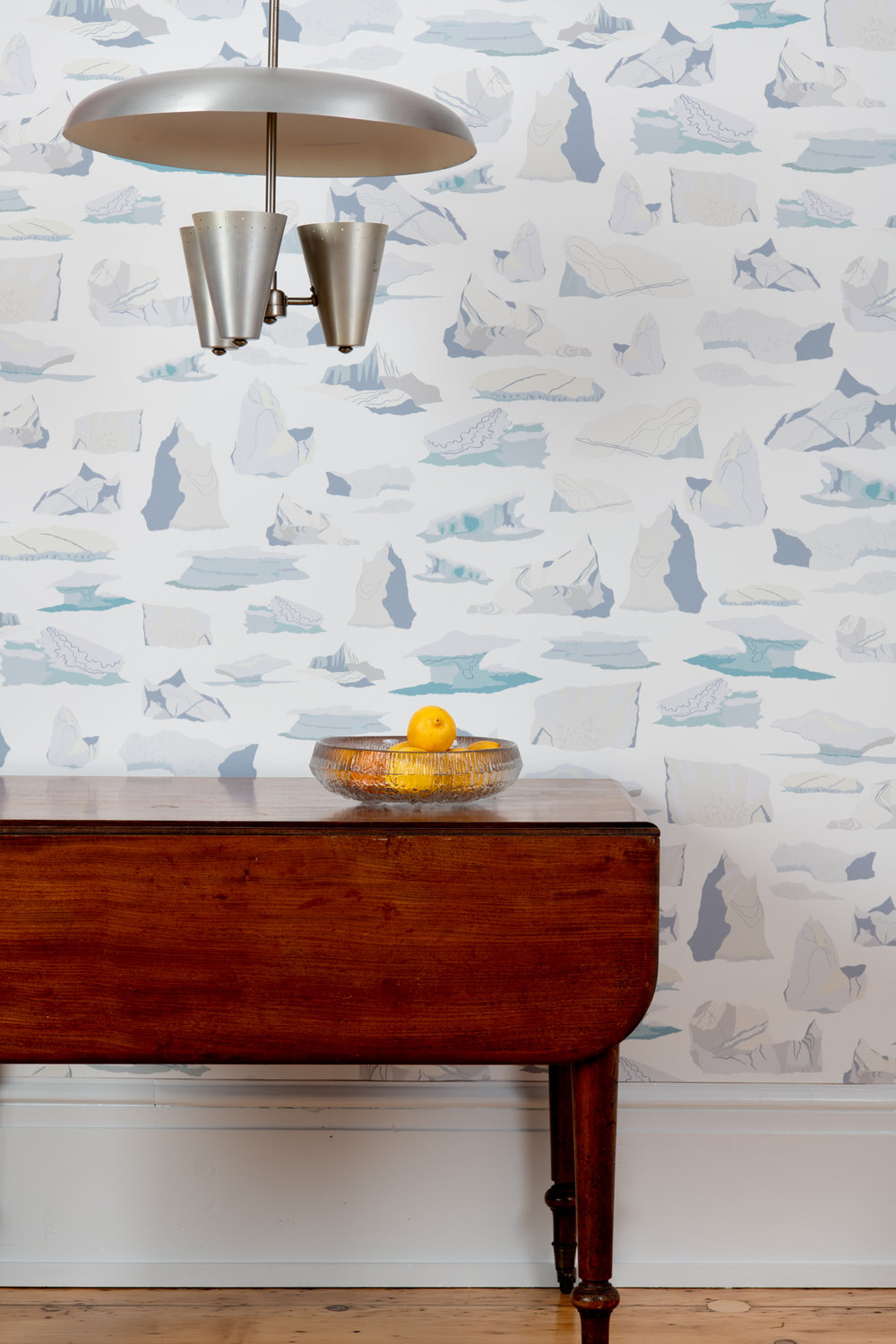 Kate Golding Icebergs wallpaper // Modern wallcoverings and interior decor.