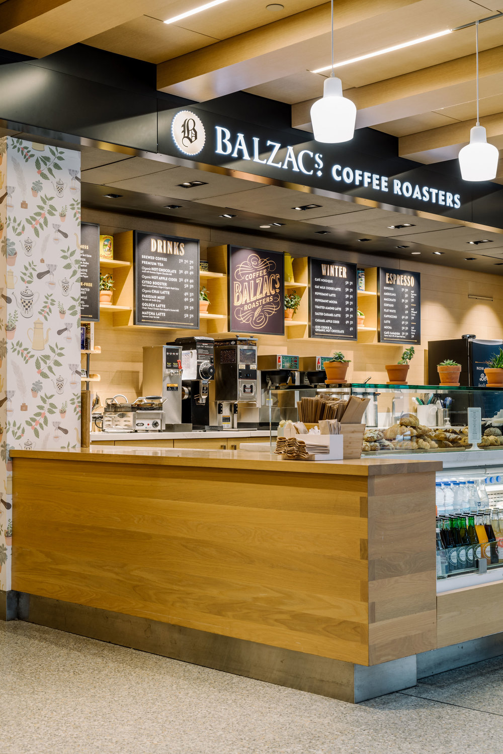Kate Golding wallpaper for Balzac's Coffee Roasters