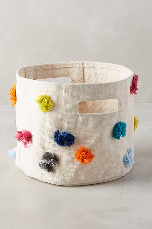 Rainbow Tufted Storage Bin