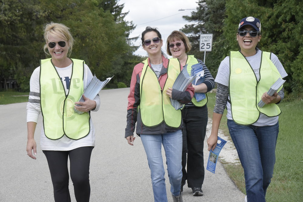 Besides cleaning up the creek, volunteers hung educational material on door knobs about the event and how residents can continue to keep the creeks clean.