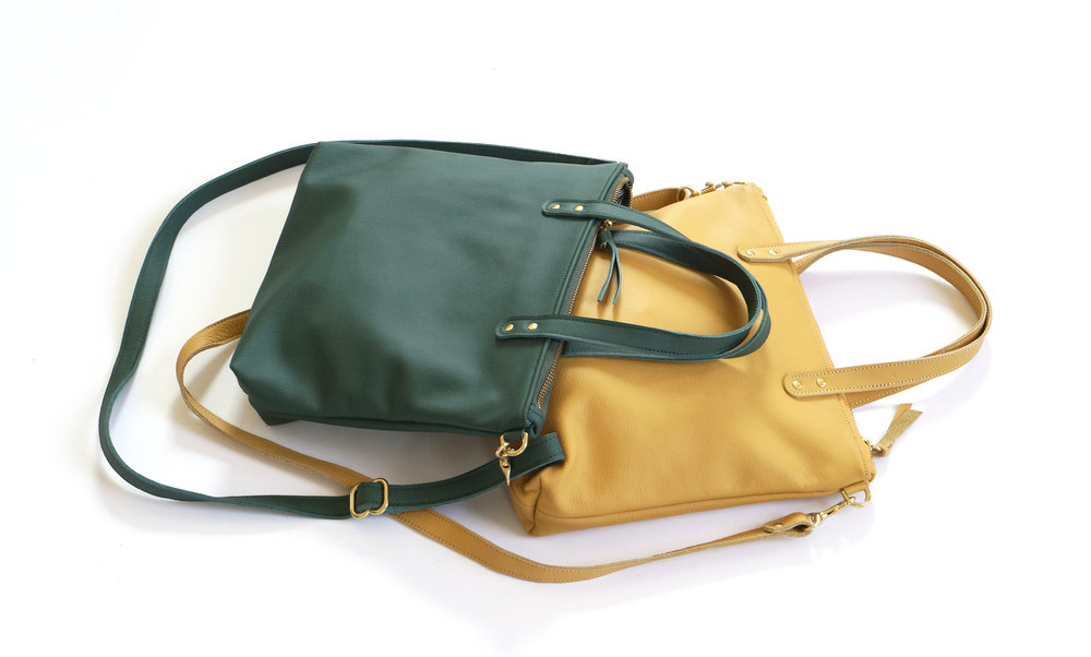 Mini Day Bags - in Hunter and Mustard