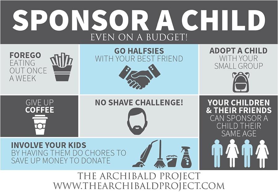 sponsor a child on a budget