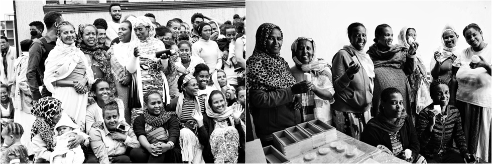 Photo on right of the Selamta Moms making soap!