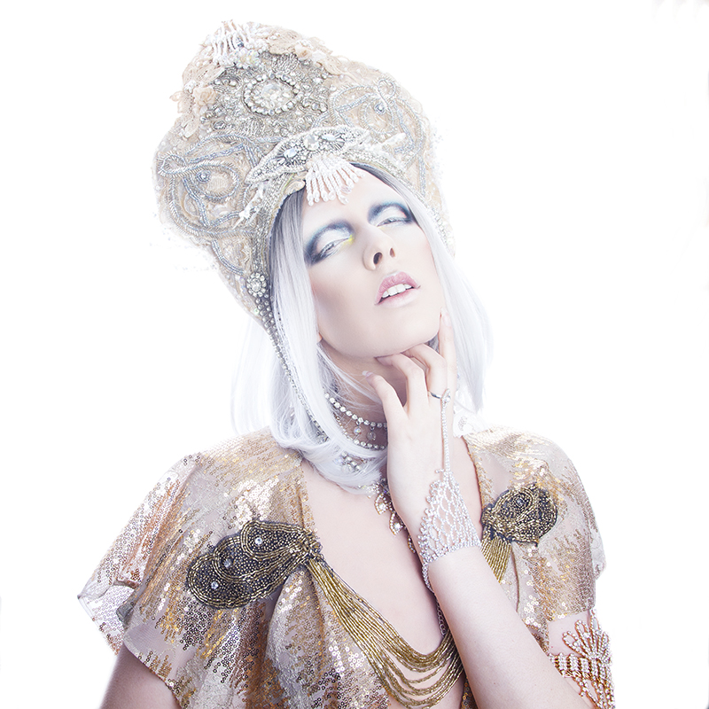 Self portrait - headdress by Creations by Liv Free