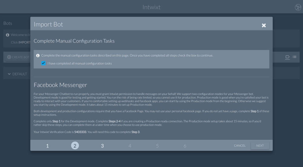 Intwixt | Complete Manual Configuration Tasks