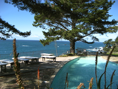 View of ocean from Esalen campus.