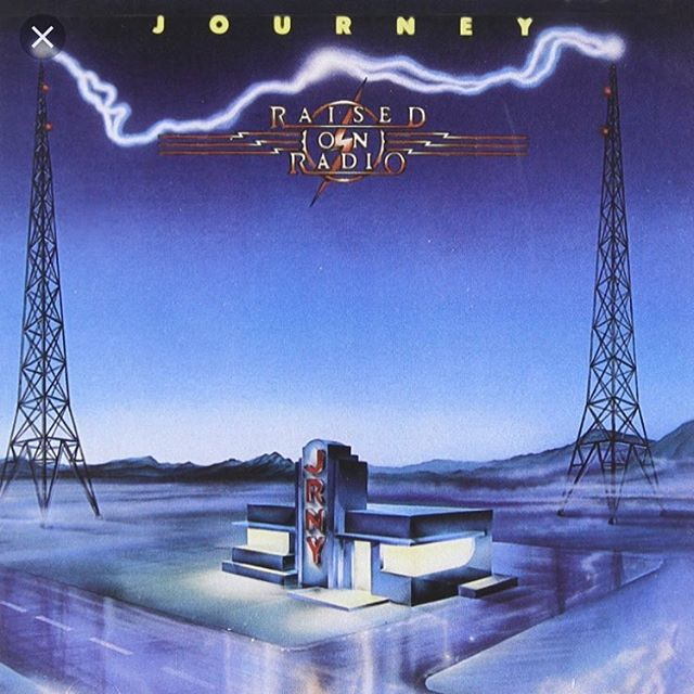 "Album Review Wednesday: ""Raised on the Radio"" by #journeyband .This album is such a guilty pleasure...and I love it. Steve Perry, souring guitars, and really driving songs. Best known for songs like ""I will be alright without you"" and ""Girl Can't Help It"". Journey are masters of the 'second track' (the second track being as good as the first) and Steve Perry shows his vocal prowess. Recommendations: listen to in the car as intended with sun glasses."