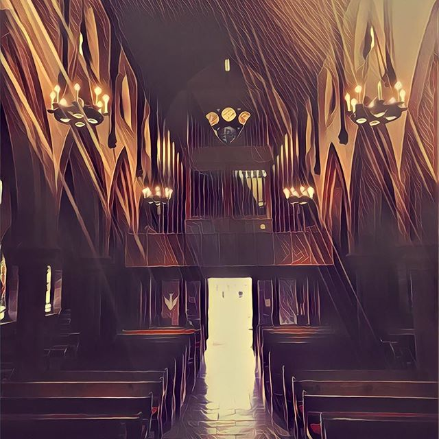 "Prisma is pretty cool. ""A Sunday in June"" #prisma #episcopalchurch #episcopalian #art?"