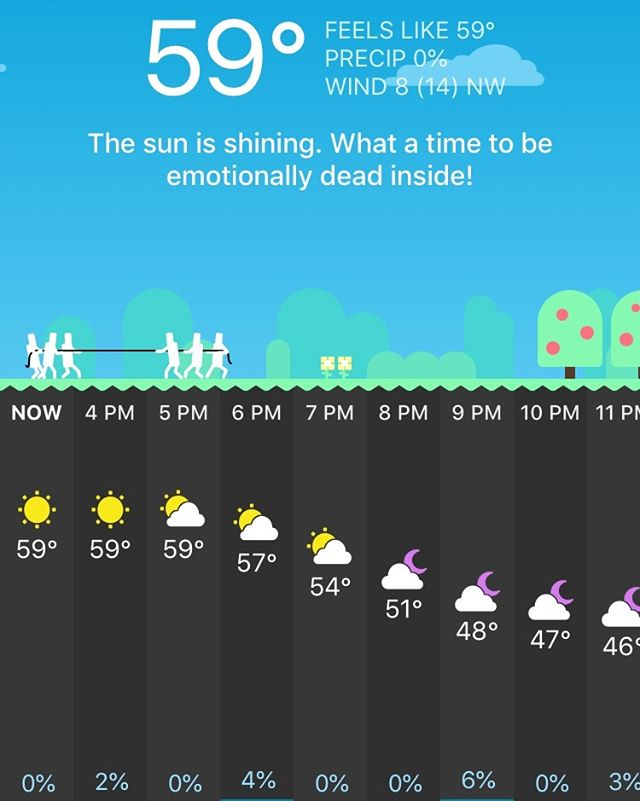 That moment when your weather app makes you spit take... #carrotweather