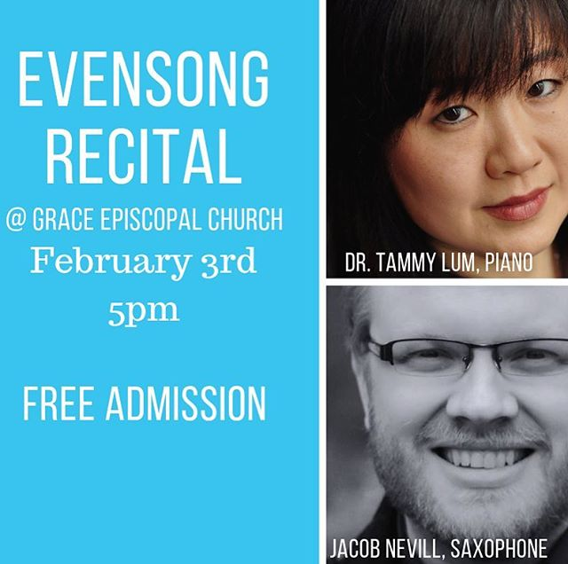 Playing at @gracechurchnyack tomorrow at 5pm after Evensong (definitely come to evensong and enjoy some absolutely wonderful music!) with pianist Tammy Lum. A short recital of all women composers. Free admission! #saxophone #womencomposers #amyquate #fernandedecruck #rebeccaclarke