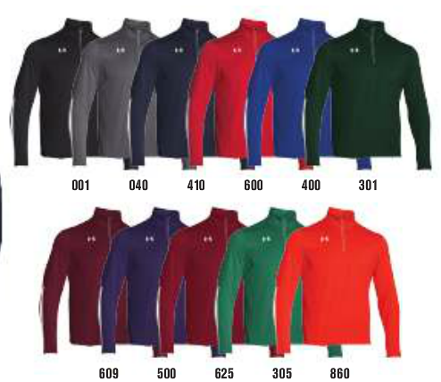 9885b709 Logo for the 1/4 zip is located on the left chest and is embroidered