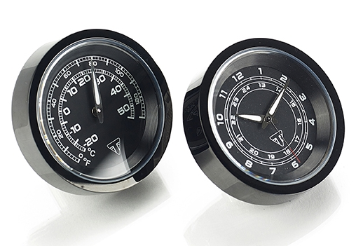 Triumph Motorcycle Clock and Thermometer