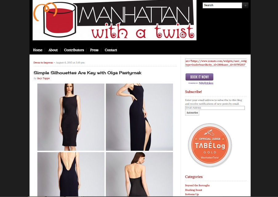 www.manhattanwithatwist,com, August 7, 2015