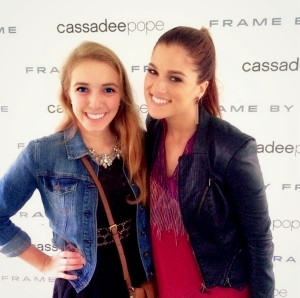 Lisa with Cassadee Pope